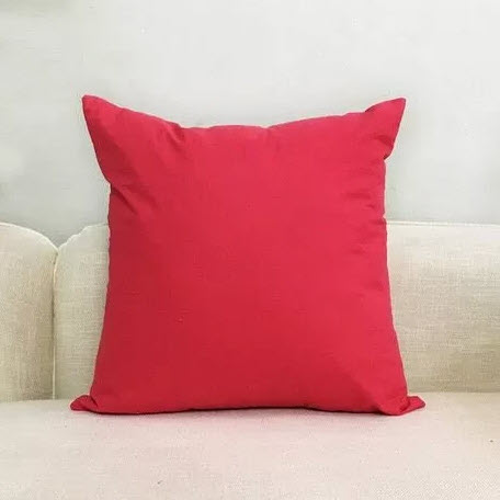 rasberry colored pillow