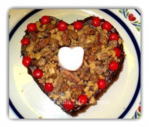 Poverty, But Easy and Delicious Brownie Heart Cakes