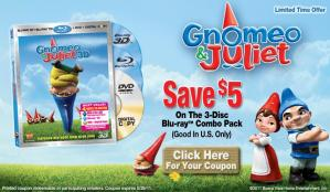 Gnomeo & Juliet To Be Released May 24th & Get Your $5 Off Coupon!