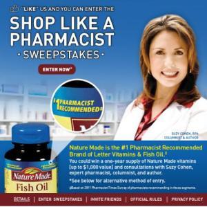 Nature Made: Shop Like A Pharmacist Sweepstakes