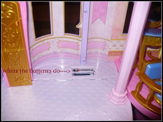 Disney Princess Ultimate Dream Castle where the batteries go