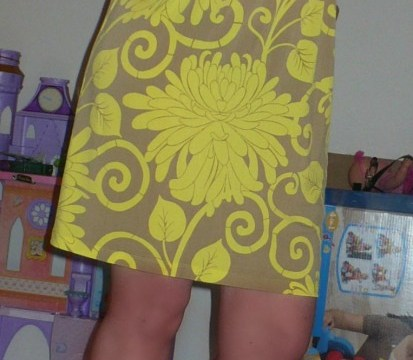 All Over Print Yellow Dress By Muse