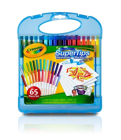 crayola supertips washable markers kit