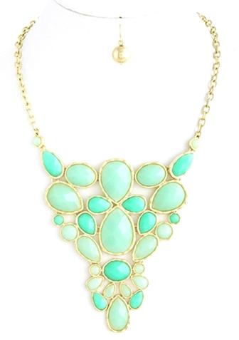 Mint Teardrop Necklace