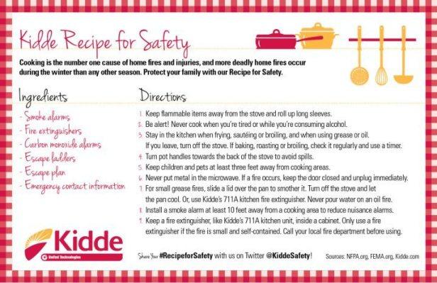 Kidde Recipe For Safety Card