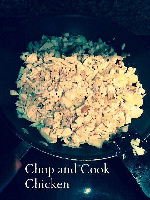 chopped chicken