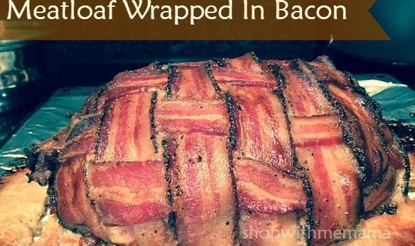 Meatloaf Wrapped In Bacon #Recipe