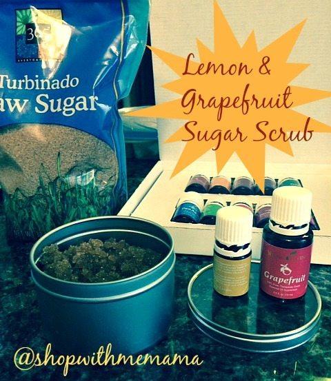 Essential Oils Lemon & Grapefruit Sugar Scrub