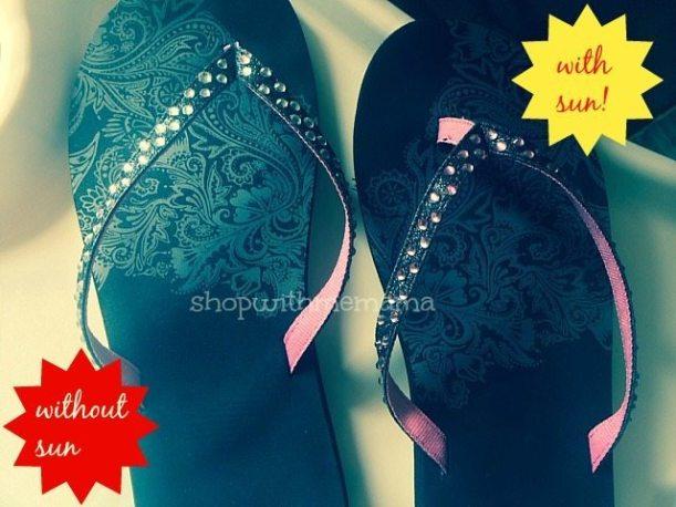 color changing flip flops