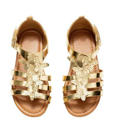 girls metallic sandals