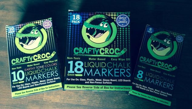 Get Crafty This Fall With CraftyCroc Liquid Chalk Markers!