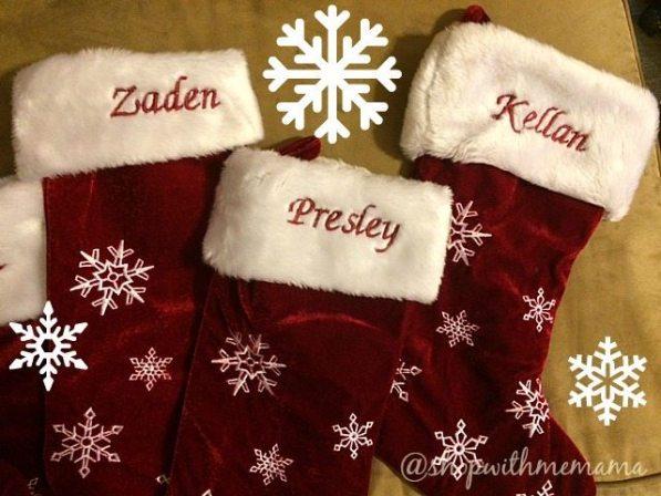Winter Wonderland Personalized Snowflake Stockings