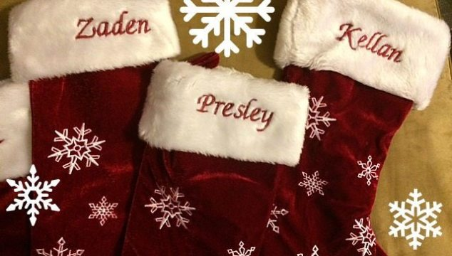 Winter Wonderland Personalized Snowflake Stockings