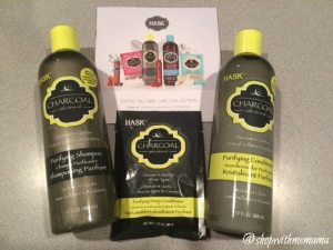HASK Charcoal Purifying Hair Care Collection & Brush