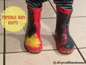 Encourage Creativity With DIY Paintable Rain Boots For Kids