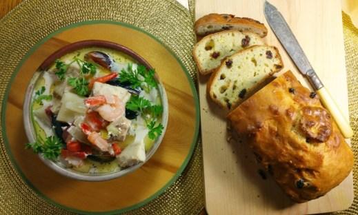 Irish Whiskey Bread and Fish Stew Recipe