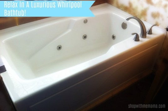 Relax In A Luxurious Whirlpool Bathtub!