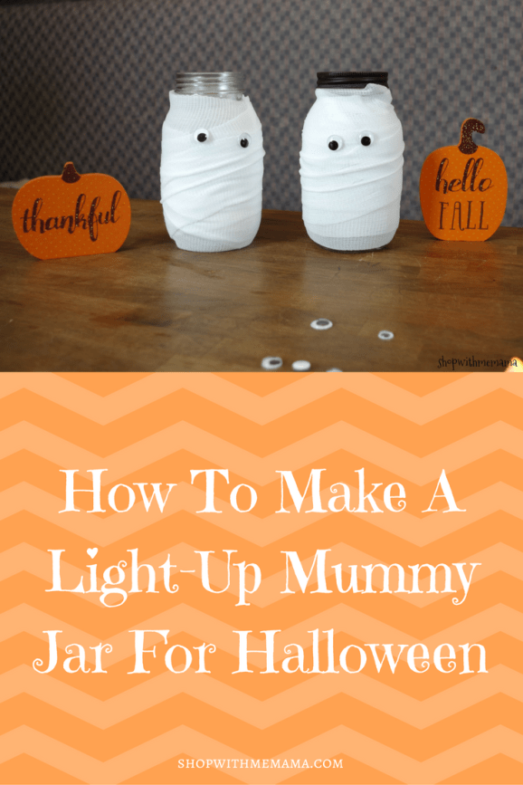 How To Make A Light-Up Mummy Jar For Halloween!