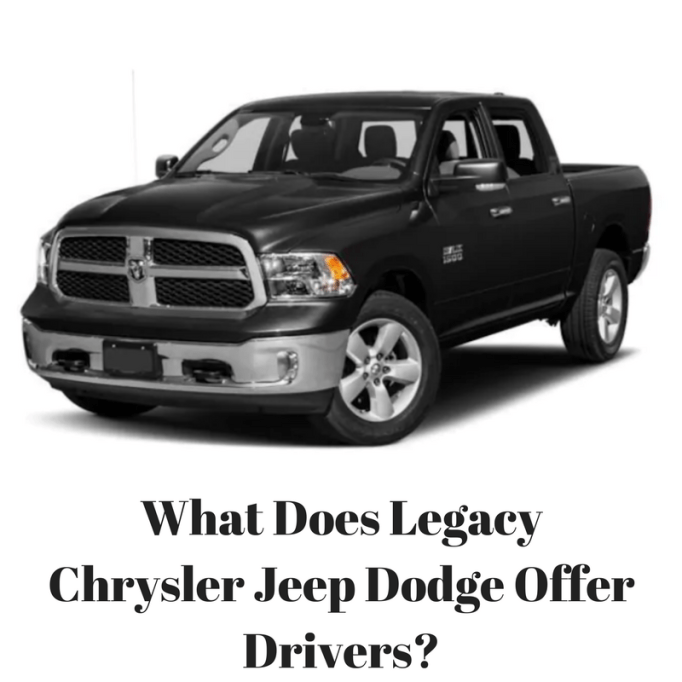 1 Team Chrysler Jeep Dodge Dealer In Mississauga: What Does Legacy Chrysler Jeep Dodge Offer Drivers?