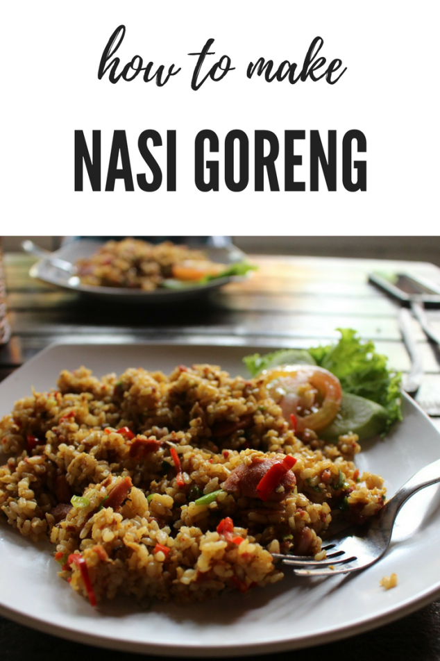 Nasi Goreng Indonesian Fried Rice with Ham
