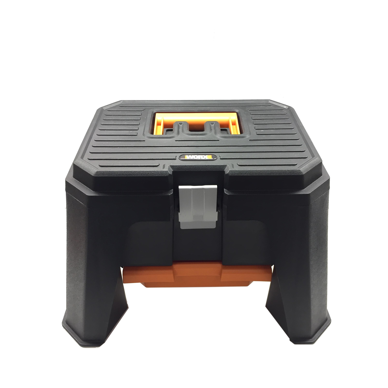 worx storage step stool shop with me mama. Black Bedroom Furniture Sets. Home Design Ideas