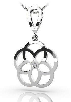 Circles Of Love Diamond Pendant