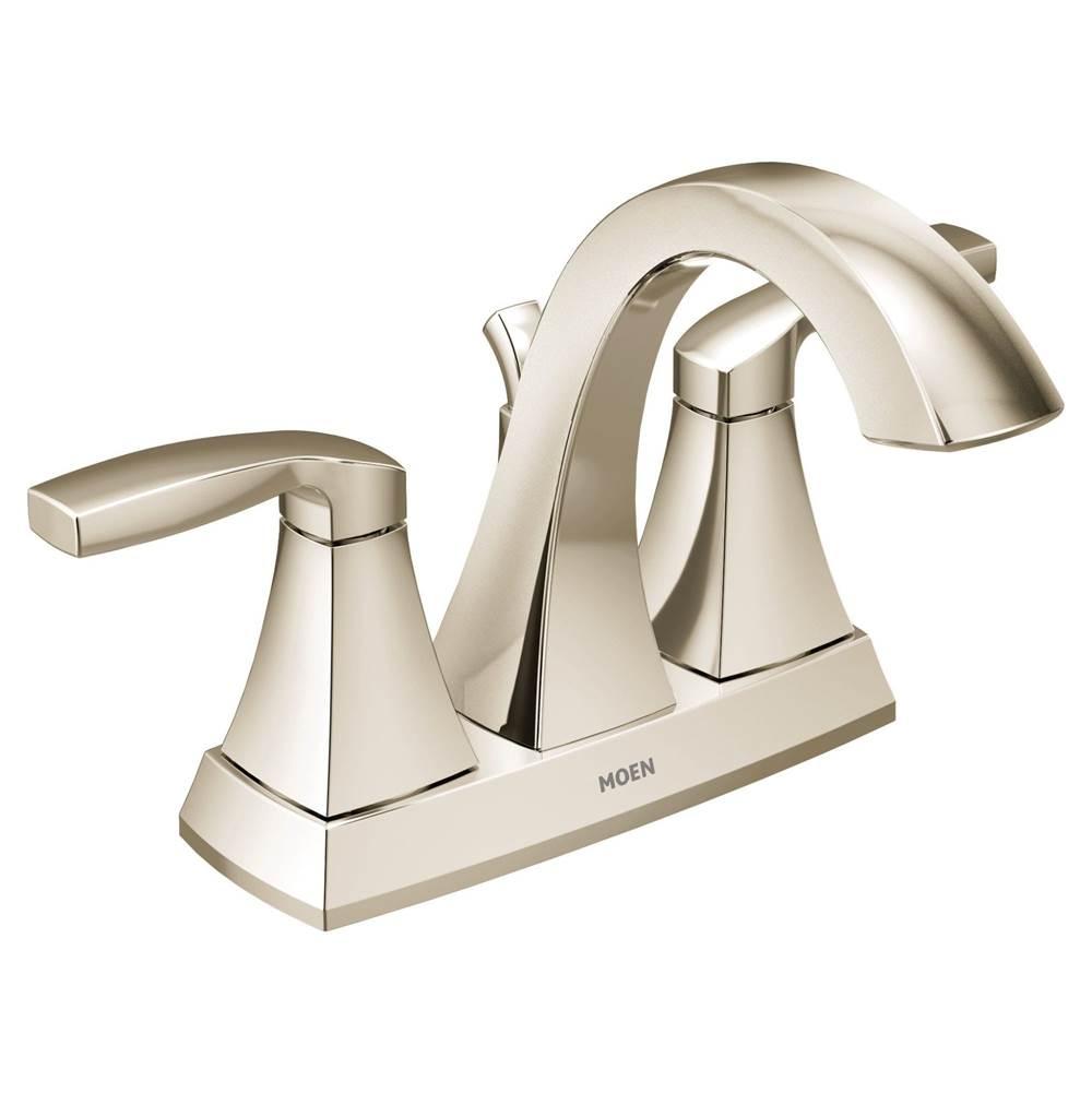 polished nickel two handle bathroom faucet