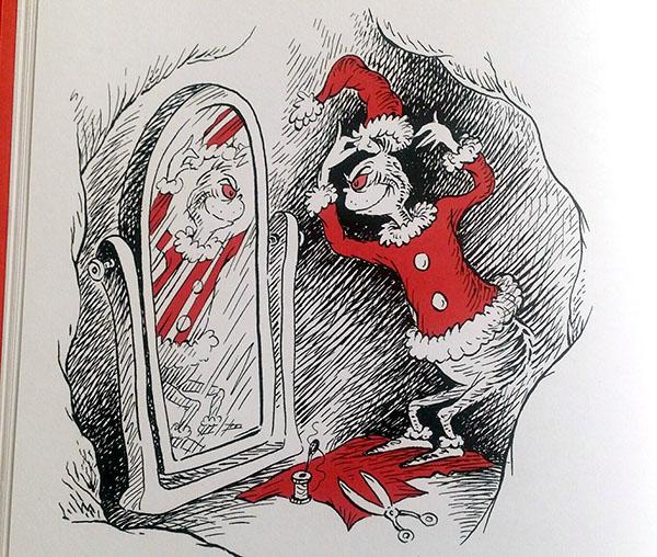 il grinch illustrato nel libro