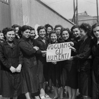 Operaie in sciopero Anni '50