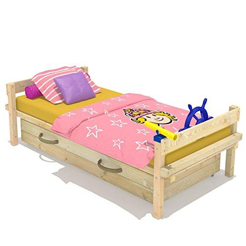 Wickeydream Kinderbett Abenteuerbett Spielbett Ruggey 90x200cm