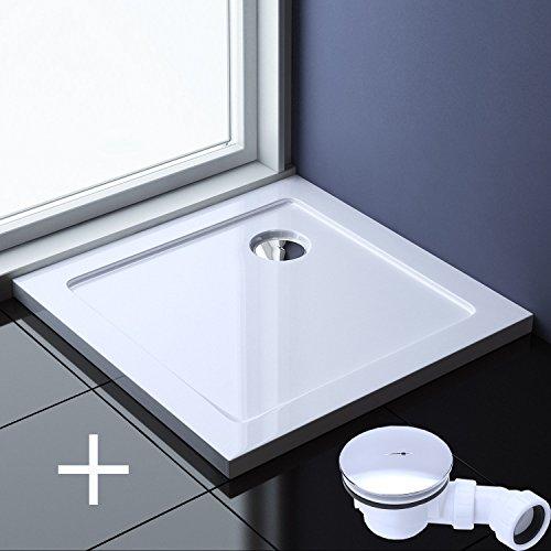 100x100x4 cm Design Duschtasse Faro1 in Weiß inkl. AL02, Duschwanne, Acrylwanne