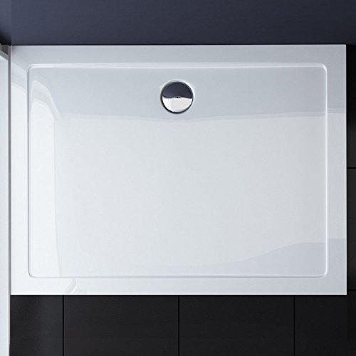 80x140x4 cm Design Duschtasse Faro2 in Weiß, Duschwanne, Acrylwanne
