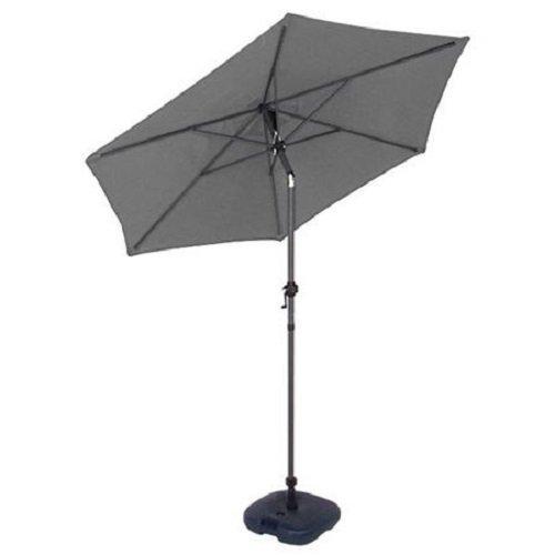 Alu Sonnenschirm mit Kurbel 2m Gartenschirm Ampelschirm Balkon Schirm Terrasse