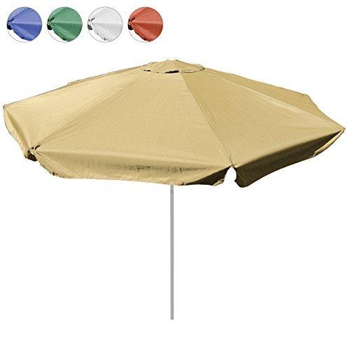 Sonnenschirm 4m mit Kurbel Alu Gestell Sonnenschutz Gartenschirm