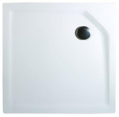 Schulte Duschbecken extra-flach 80x80 cm Sanitär-Acryl inkl Ablauf und Füßen Imperia