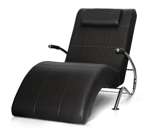 Relaxliege Enjoy-lay back 165 x 78 cm, Kunstleder, schwarz