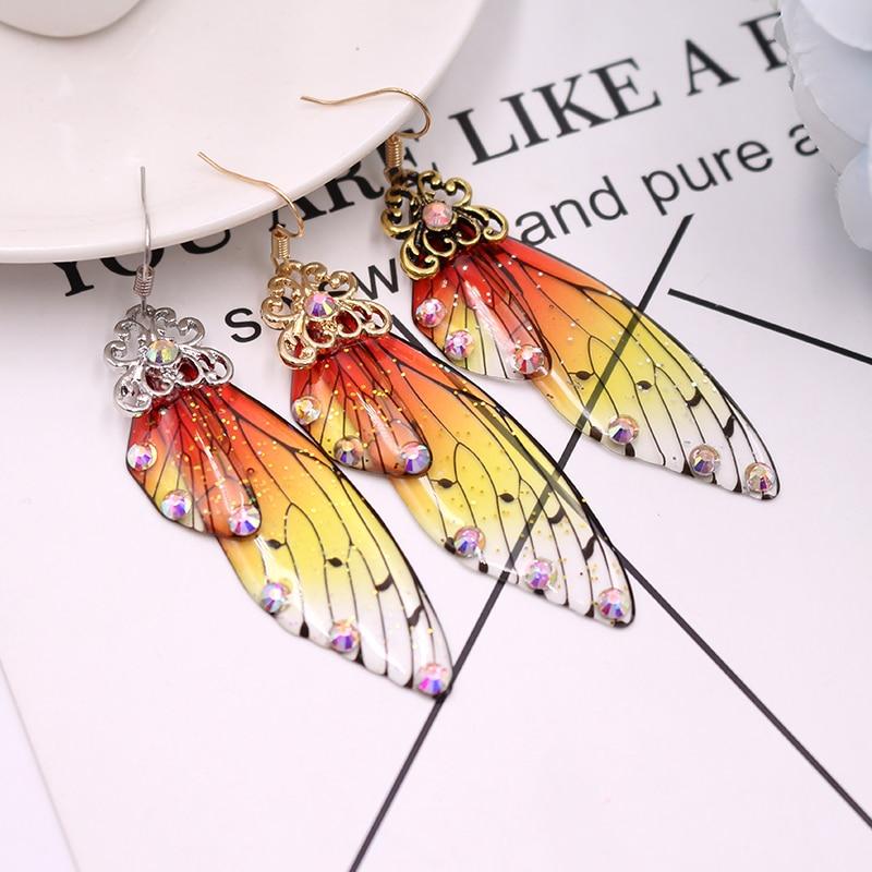 Women's Colorful Butterfly Wing Earrings