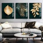 Golden Leaves Wall Canvas