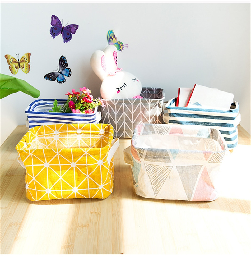 Foldable Desktop Storage Basket