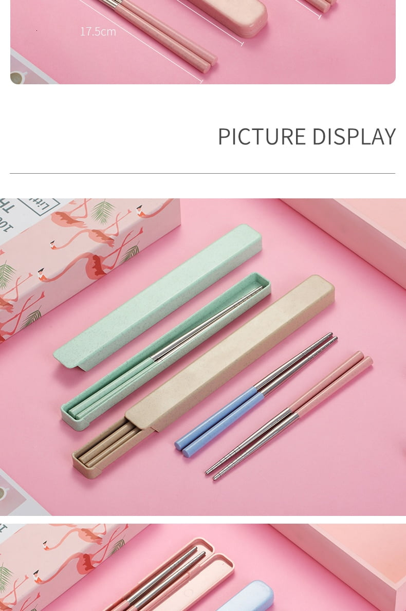Chinese Style Portable Stainless Steel Chopsticks
