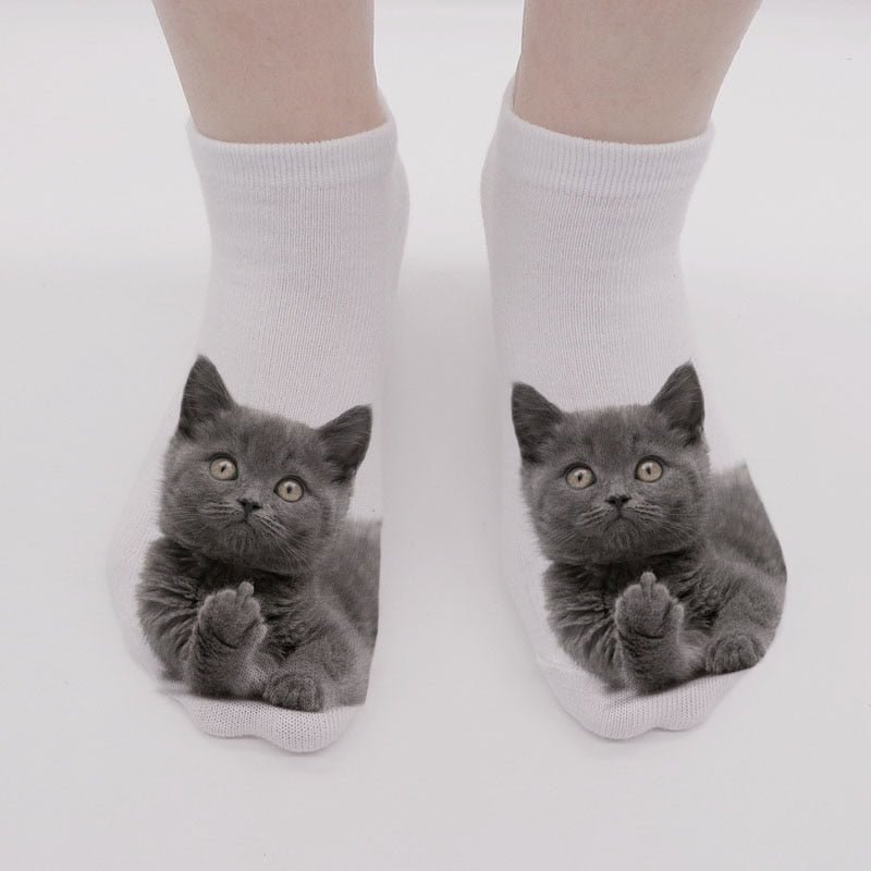 Women's 3D Cat Print Socks