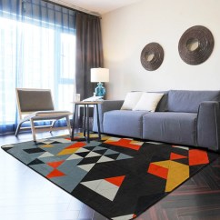Grey Rug Living Room Teal And Orange Blue 100 150cm Modern Geometric Alfombra For Parlor Area Rugs Home Decorative Floor Carpets Bedroom Shopztec Market