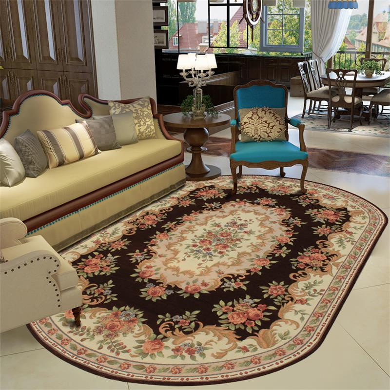 Wilton Oval Rugs and Carpets for Home Living Room Europe Bedroom Floor Mat StudyDining Area Rug