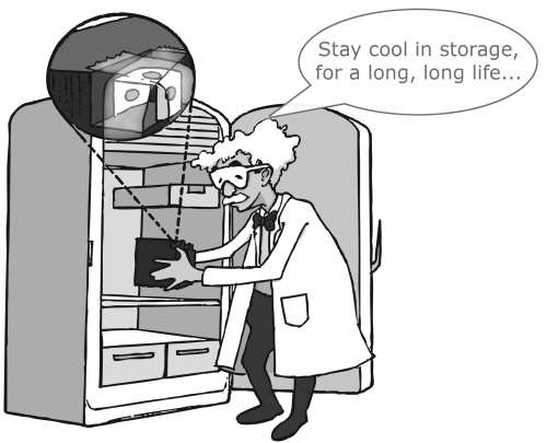 small resolution of dr shock says stay cool in storage for a long long life