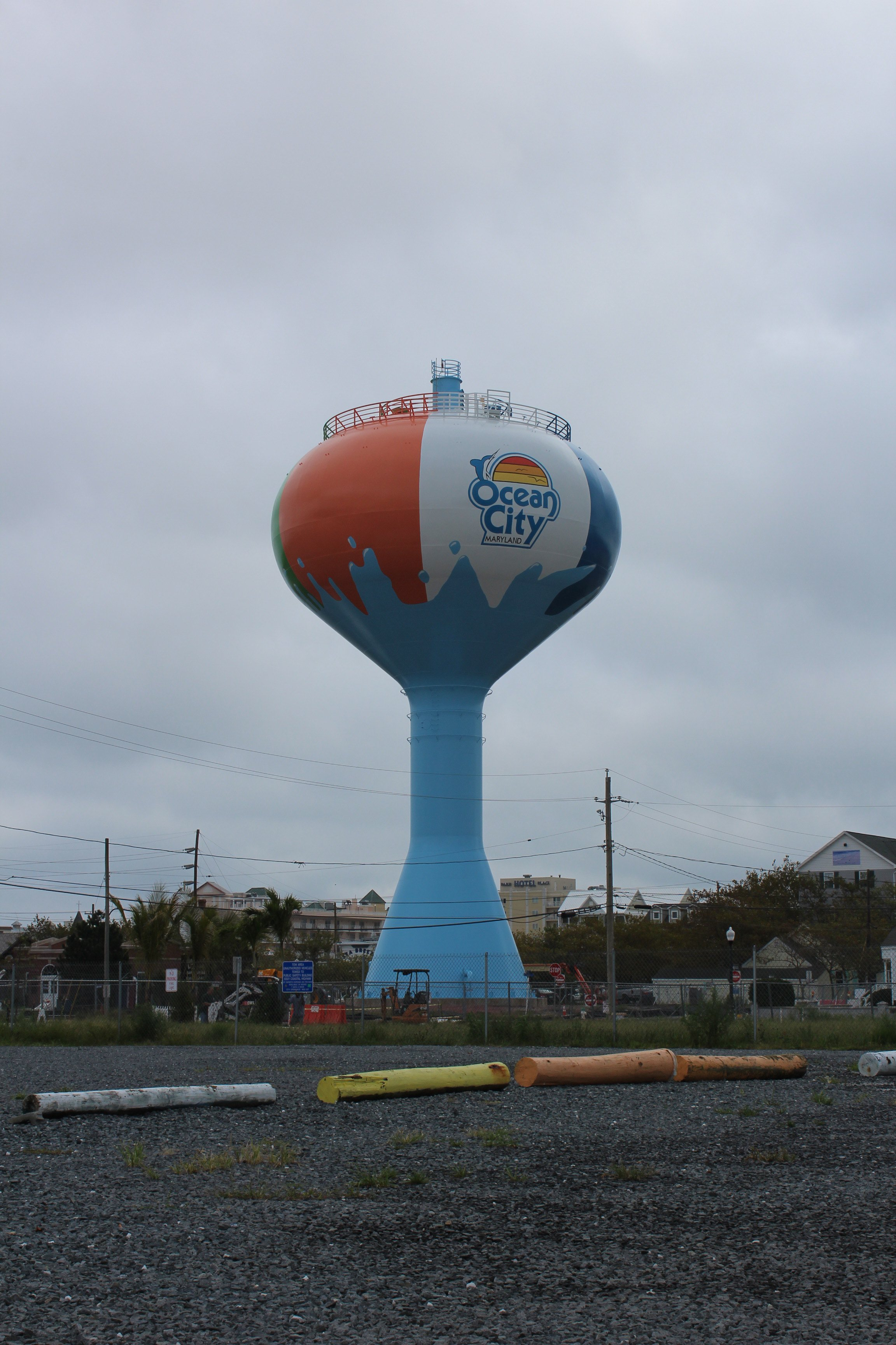 Ocean City S New Beach Ball Water Tower Shorebread
