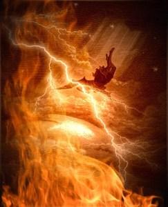 """Satan's Fall From Heaven  """"Like Lightening"""" Luke 10:18"""