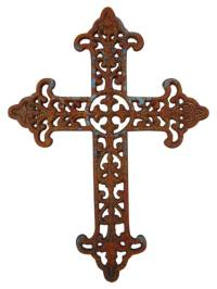 Cast Iron Wall Decor Cross