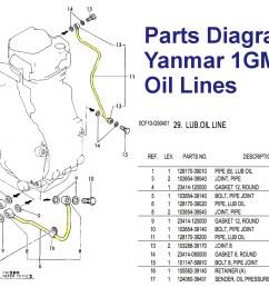 yanmar 1gm10 engine oil supply line parts list [ 1341 x 852 Pixel ]