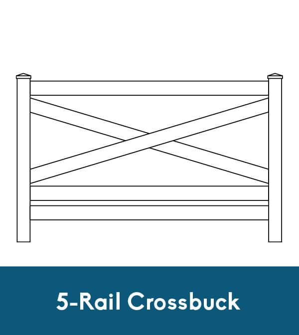 5-Rail Crossbuck