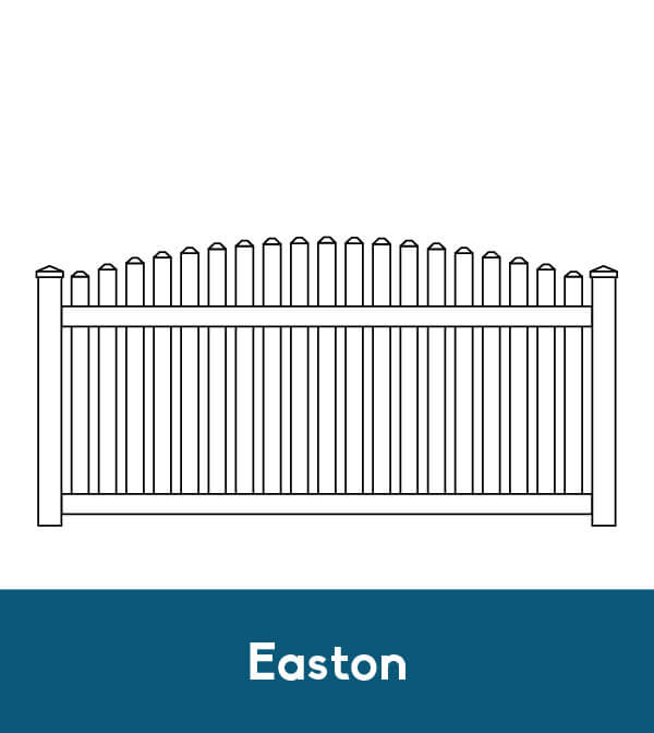 picket fence drawing. Easton Vinyl Picket Fence Drawing